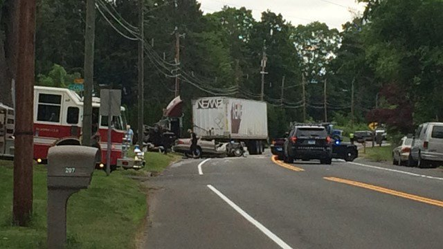 A teenager was injured in a crash in Bloomfield on Friday. (WFSB)