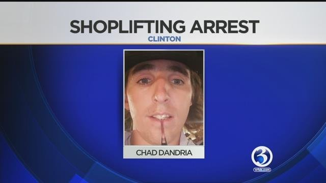 Chad Dandria accused of shoplifting from the Clinton Crossing Outlets and assaulting an officer.