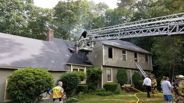 No one was injured in a house fire on Old Orchard Road on Friday. (Clinton Fire Department)
