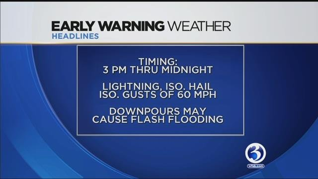 Severe weather expected to affect 60 million Americans Monday