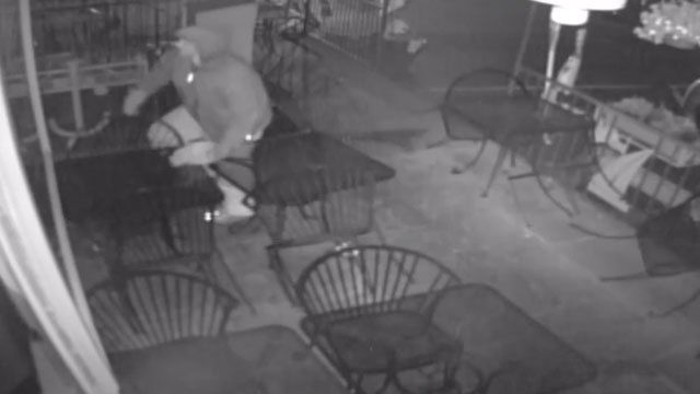 Police are searching for the person responsible for an overnight burglary at a pizza restaurant in Norwalk earlier this month. (Norwalk Police Department)