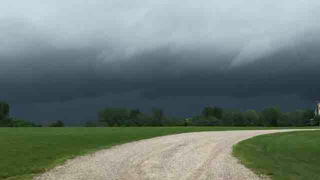 Channel 3 viewer Tommy snapped this photo from Harwinton on Monday (iwitness)