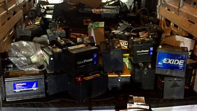 Police seized the following car batteries after a rash of thefts. (West Haven Police Department)