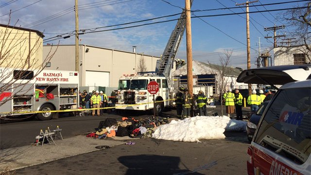 WFSB file photo of explosion at New Haven Chlor-Alkali. (WFSB)