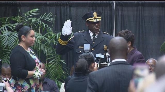 Anthony Campbell was sworn in as New Haven's next chief of police (WFSB)