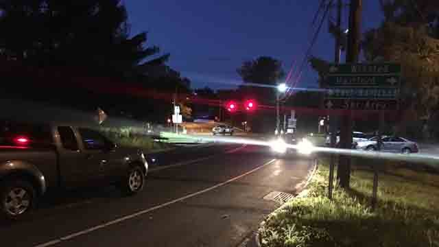 A bicyclist was hit by a car in New Hartford on Tuesday evening (WFSB)