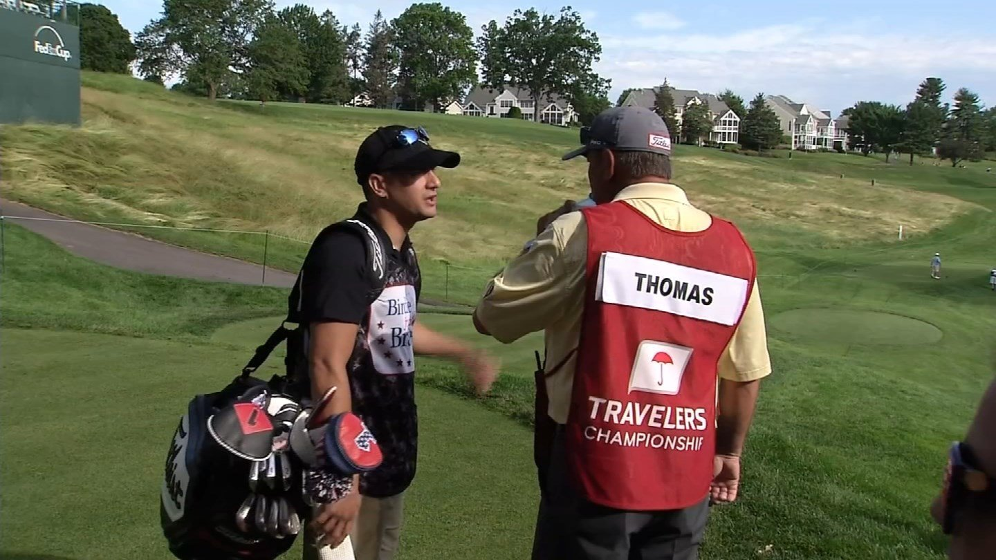 Sean Newfield was a caddy for the Travelers Championship. (WFSB)