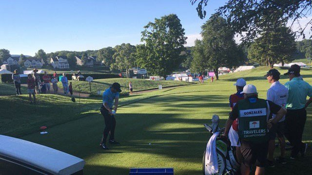 Kyle Stanley was the first to tee off on Thursday. (WFSB)