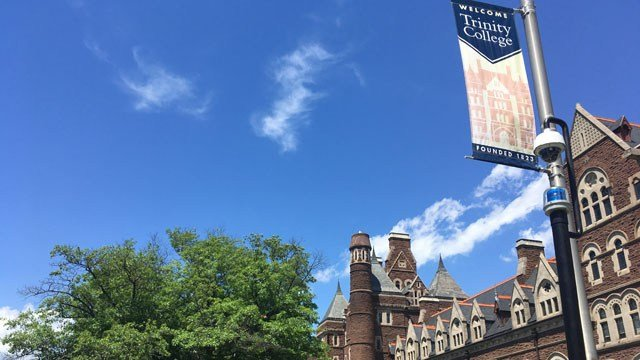 Trinity College closed on Wednesday following threats received from around the country. (WFSB)