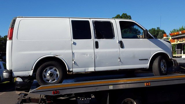 Police in East Windsor said three men from NY used this van to steal grease from a Big Y. (East Windsor police)