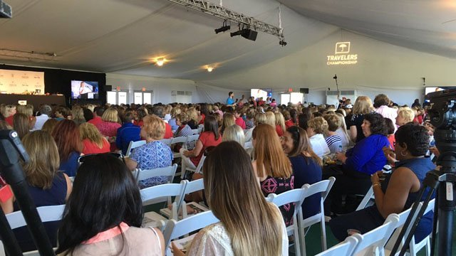 The Women's Day breakfast at the Travelers Championship sold out in minutes, according to organizers. (WFSB)