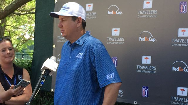 J.J. Henry talks about his opening round score of -2. (WFSB)