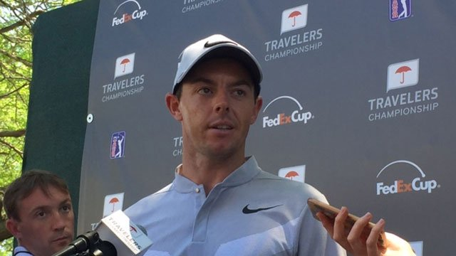 Rory McIlroy talks about his first round at the Travelers Championship. (WFSB)