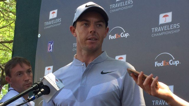 Rory McIllroy shot a 67 after day 1 of the Travelers Championship. (WFSB)