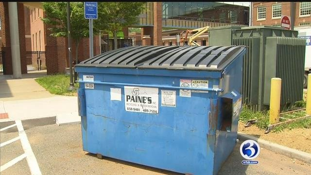 A Manchester dad found school supplies thrown into a dumpster, that were perfectly usable (WFSB)