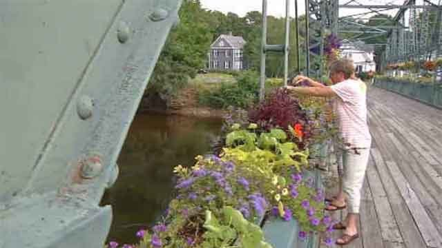 The flower bridge in Simsbury will be closed for inspections beginning June 26 (WFSB).