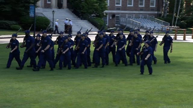 Boot camp for the class of 2021 at the U.S. Coast Guard Academy kicked off on Monday. (WFSB)