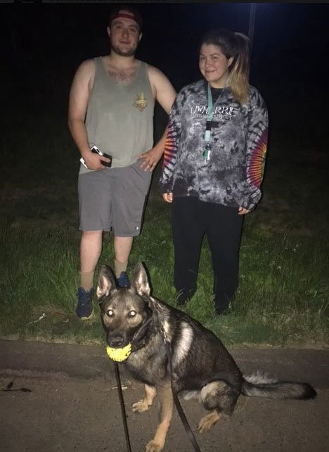 This couple was located by a state police K9. (CT State Police)