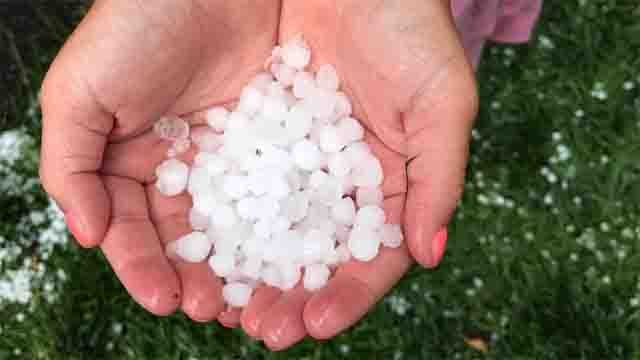 Hail was spotted in Terryville on Tuesday (Linda Osipowicz Turner)
