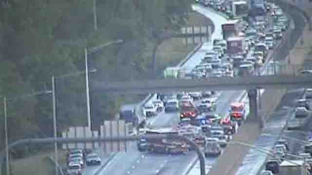 A motorcycle crash has closed part of I-84 east in Cheshire (CT DOT)