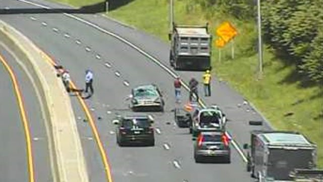 A motor vehicle crash has closed the northbound side of Route 9 in Middletown on Wednesday afternoon.  (CT DOT)