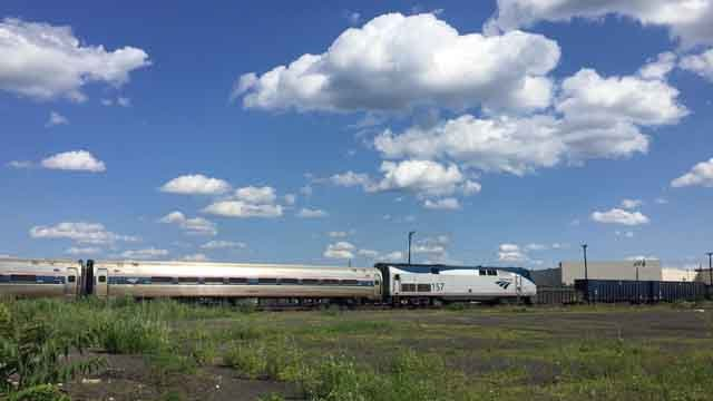 A person has died after being hit by an Amtrak train on Wednesday (WFSB)