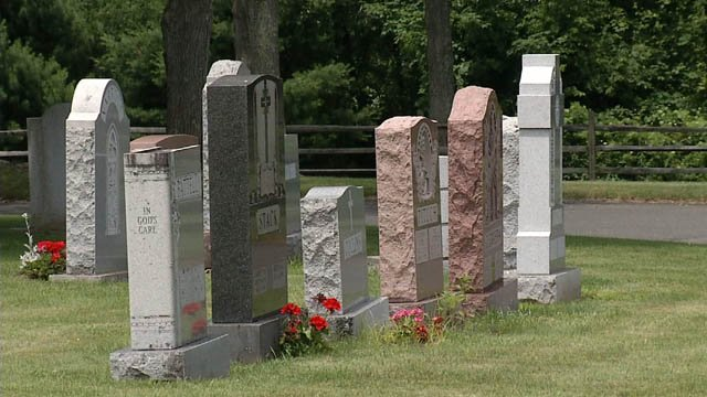 Police are trying to figure out who is responsible for vandalism at a Watertown cemetery (WFSB)
