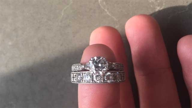 Noelle Rudloff is hoping the power of Facebook will reunite these rings with their owner (Noelle Rudloff)