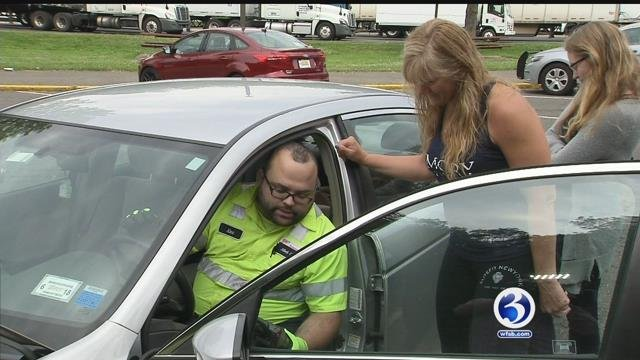 AAA crews gave out  free battery and tire testing. (WFSB)