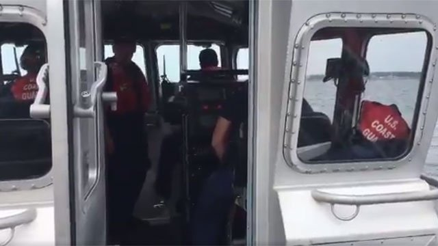 The USCG wants to make sure folks aren't boating and drinking. (WFSB)