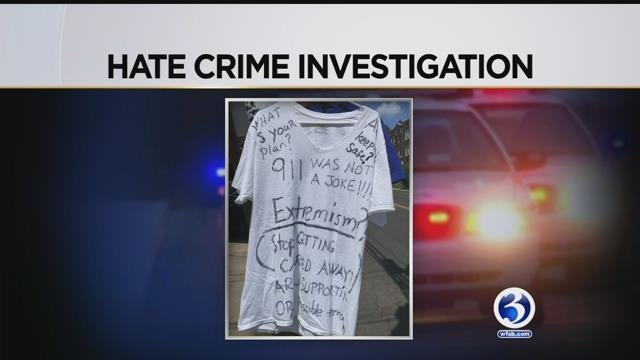 Police are  investigating a possible hate crime in New Britain. (WFSB)