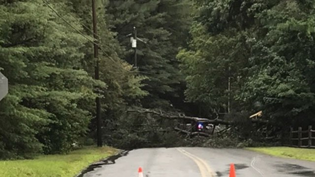 There were reports of damage throughout the state including in Simsbury. (WFSB)