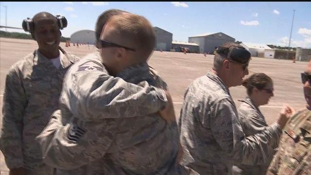 Connecticut airmen return home to East Granby Tuesday at noon. (WFSB)