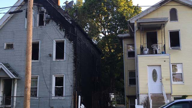A fire on Walnut Street in New Haven was blamed on improperly disposed fireworks. (WFSB)