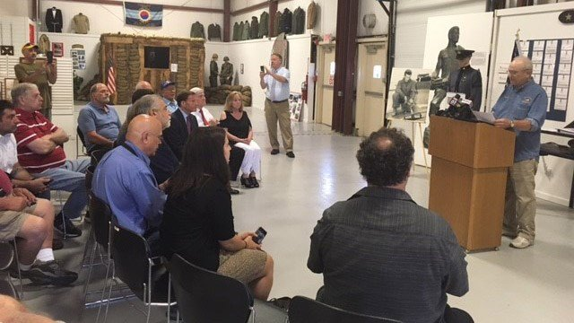 Terrance R. Gilbert was presented a flag at the West Haven Veterans Museum in honor of his uncle who disappeared during World War II in Europe. (WFSB)