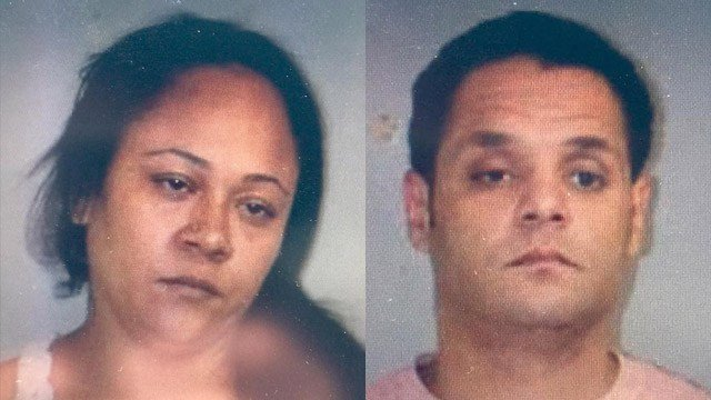 Audrea Quinones and Adam Eldib are accused of breaking into a woman's home in Killingly and assaulting two people. (State police photos)