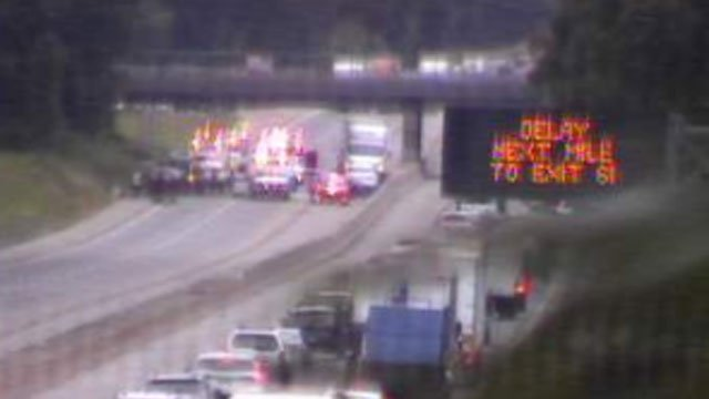 The southbound side of I-95 in Madison is closed between Exits 60 and 59. (CT DOT)