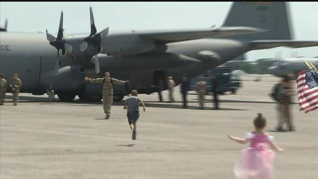 Another wave of airmen returned home to East Granby on Thursday. (WFSB)
