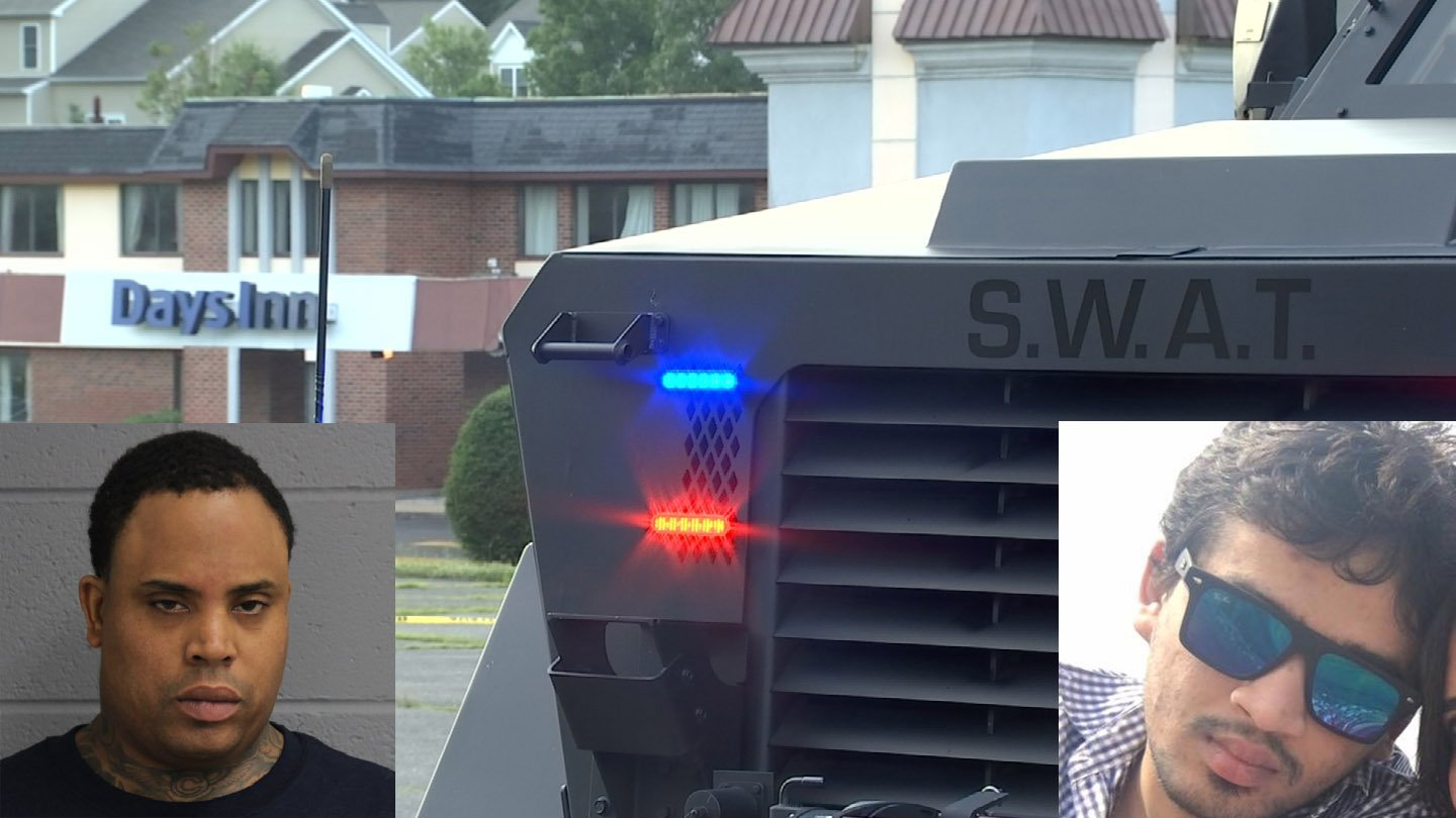 Rahheem McDonald was officially charged with the murder of Pratik Jagani at the Days Inn in Berlin. (WFSB/North Haven police/family photos)
