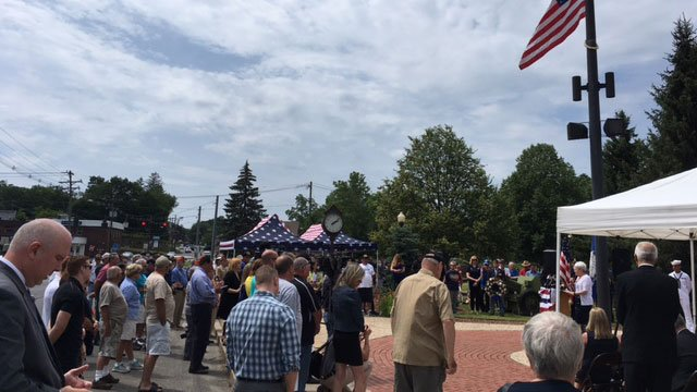 A memorial service honored  Sonar Technician 3rd Class Ngoc T. Truong Huynh on Thursday in Watertown. (WFSB)