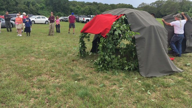 Wigwam was constructed before the ceremonial fire to cleanse development site. (WFSB)
