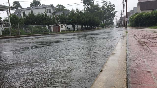 Minor flooding was reported in Milford. (WFSB)