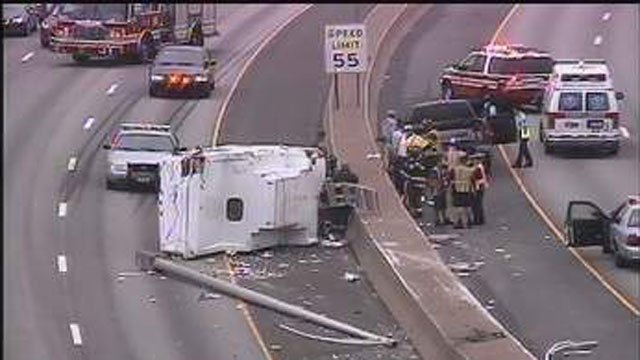 Two lanes were closed on I-91 in Hartford after a crash. (CT DOT)