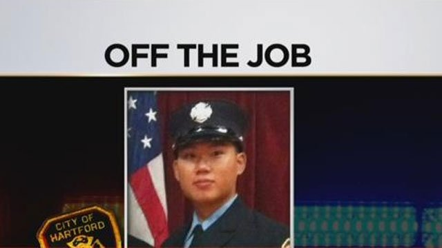Hartford firefighter Jimmy Ngo, who was shot in April after a drug deal went bad, was terminated on Friday, according to a department spokesman. (WFSB)