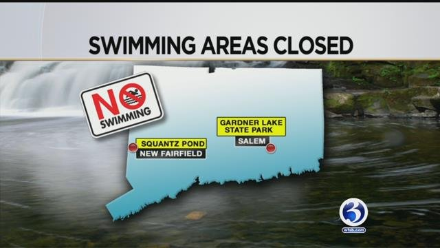 Two swimming areas are closed on Friday due to water quality concerns. (WFSB)