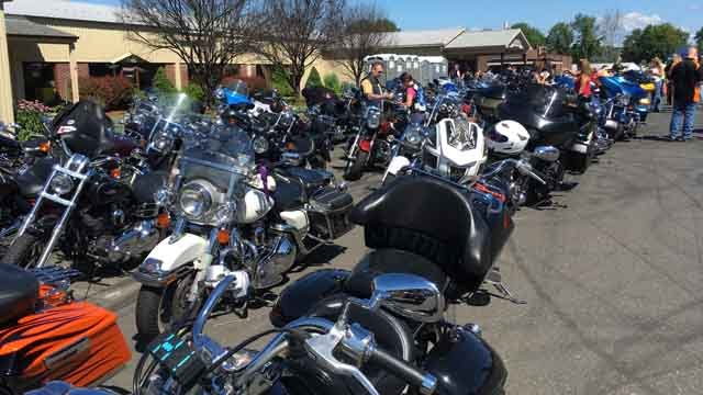 Hundreds of riders participated in the event on Sunday (WFSB)