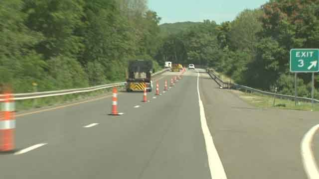 Route 9 was shut down on Monday morning because of a crash involving a motorcycle (CT DOT)