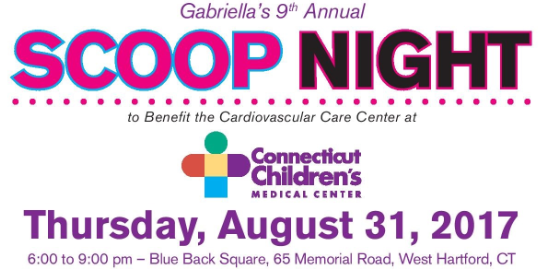 Channel 3 is once again partnering on Gabriella's Scoop Night to Benefit the Cardiovascular Care Center at Connecticut Children's Medical Center.