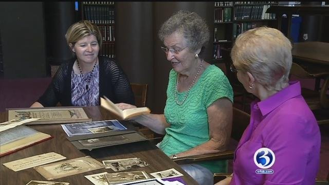 Two families came together on Monday to share history (WFSB)