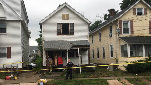 A person was rescued from a house fire on Center Street in West Haven on Tuesday morning. (WFSB)